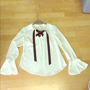 size 2 women's blouse White House black market